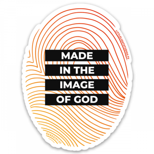 Made in the image of God Sticker